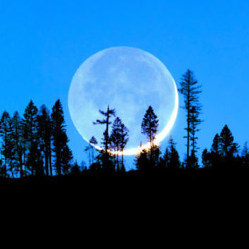 THE BLUE MOON 10x20 Panoramic Landscape Fine Art Photography Print
