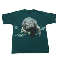 Vintage 90s Manatees Shirt Made in USA Mens Size Large
