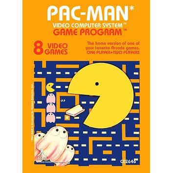 Retro Pac Man Game Poster//NES Game Poster//Video Game Poster//Vintage Game Reprint