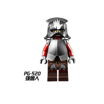 PG520 Single Sale Super Heroes Uruk Hai With Free Base Lord of the Rings Embo Mordor Orc Building Blocks Toys for Children Gift