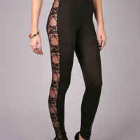 Lace Streak Leggings | Cute Leggings at Pink Ice