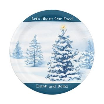 Christmas Tree 7 Inch Paper Plate