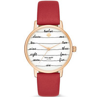 kate spade new york Metro Three-Hand Leather Strap Watch | Dillards