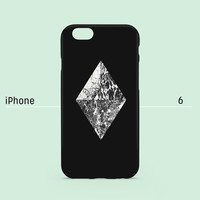 iPhone 6 case - Marble Diamond on Black - iPhone 6 case, iPhone 6 Plus case, iPhone 5s case, iPhone 5 case, iPhone 4s case non-glossy