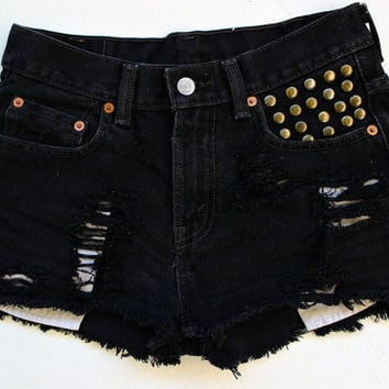 Black customized Levi's