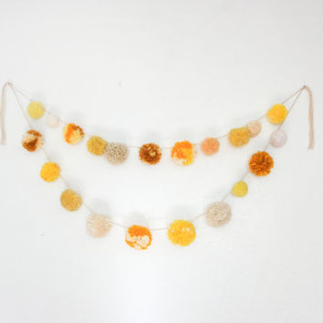 Yellow Pom Pom Garland