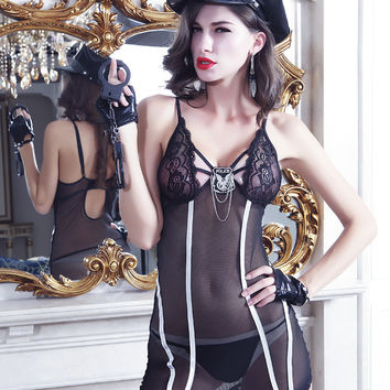 Sexy Cute On Sale Hot Deal See Through Set Exotic Lingerie [6596135235]