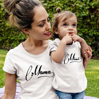 MAMA and MINI shirts mommy and me outfits mothers day gift parent child matching shirts mom daughter matching mom baby matching mothers day