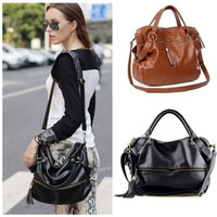 Lady Handbag Shoulder Bag Tote Purse PU Leather  Messenger Hobo [7896508487]