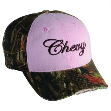 Chevy-Ladies Camo/Pink new ball cap w/tags