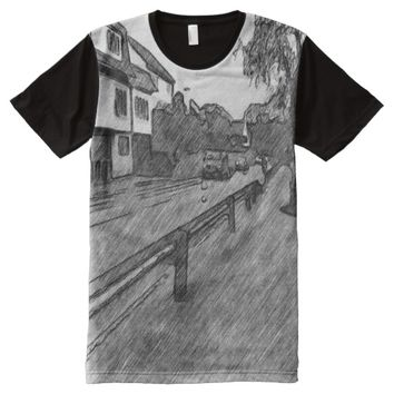 car and traffic drawing All-Over-Print shirt