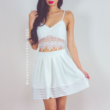 By My Side Skirt - White
