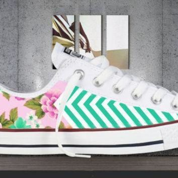 DCCK1IN all colors floral chevron printed converse all star chuck taylor sneakers unisex