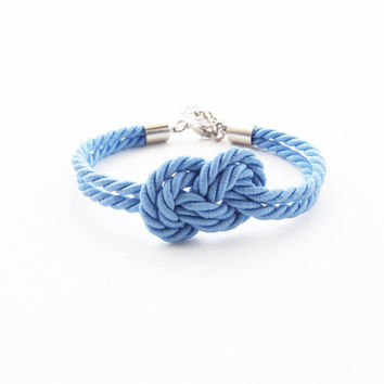 Will you be my bridesmaid bracelet -beach wedding favors - bridesmaid bracelet - nautical wedding gift - infinity knot bracelet - blue