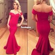 New Sexy Women Off Shoulder Prom Ball Cocktail Party Dress Formal Evening Gown