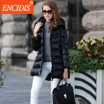 High-end Brand Women Down Coat Winter 2016 New Ladies Hooded Jacket Hot Sale Female Long Warm Coats Women's Thick Clothing Y136