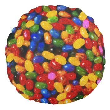 Candies Round Pillow