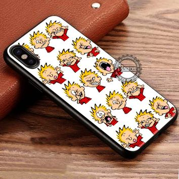 Funny Faces Calvin And Hobbes iPhone X 8 7 Plus 6s Cases Samsung Galaxy S8 Plus S7 edge NOTE 8 Covers #iphoneX #SamsungS8
