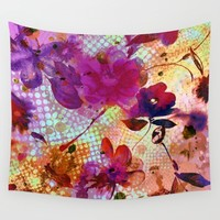 flowers and light Wall Tapestry by clemm
