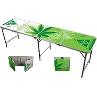 PONG360 Official Portable Beer Pong Table - 8 Foot - Greens