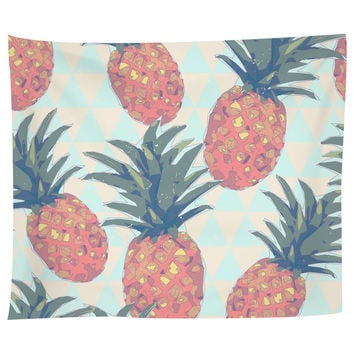 Low Poly Pineapples Tapestry
