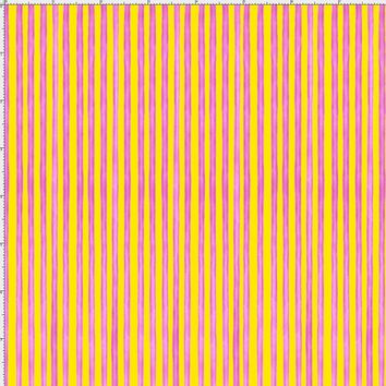 Circus Stripe Yellow / Cerise Fabric