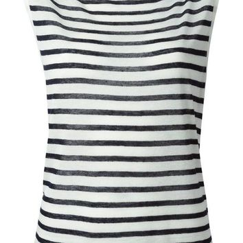 T By Alexander Wang Horizontal Strip Sleeveless Top
