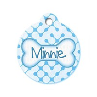 Blue Retro Maze - Pattern Pet Tags