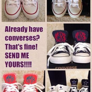 CREYONB SEND ME YOUR Converses to Monogram