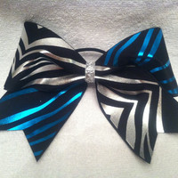 3 3 inch cheer cheerleader bow blue and by blingitoncheerbows