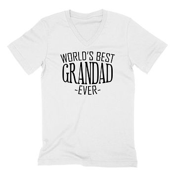 World's best grandad ever  family birthday father's day christmas  gift ideas  best grandpa  grandfather  V Neck T Shirt