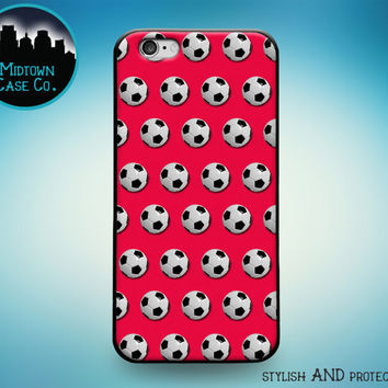 Soccer Balls Multiple Colors Sports Football Rubber Case for iPhone 7 Plus iPhone 7 iPhone 6s 6 Plus iPhone 6s 6 iPhone 5s 5 5c iPhone SE