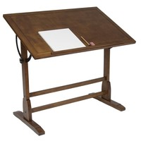 STUDIO DESIGNS 42in Vintage Drafting Table / Rustic Oak 13305