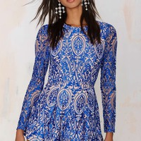 The Jetset Diaries Sunset Embroidered Romper