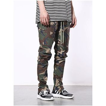 Mens Jogger Pants Hip Hop Harem Pants Camo and Solid Color Full Length Men HIPHOP joggers Pants Trousers men streetwear