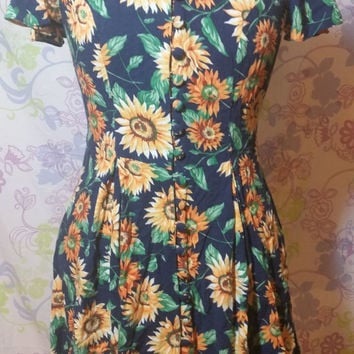 Vintage 90s Westport Ltd Button Up Dress