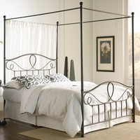 Sylvania Iron Canopy Bed by Fashion Bed Group | Wrought Iron Metal Canopy Bed Frame