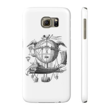 Slim Samsung Galaxy S6 with Hot Air Balloon Flying Airship Art Print