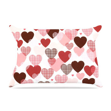 "Heidi Jennings ""Love"" Pink Red Pillow Case"