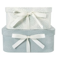 Set of Two Coco Flocked Storage Boxes - at LAURA ASHLEY