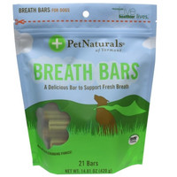 Pet Naturals of Vermont Breath Bars Dog Chews - 21 count