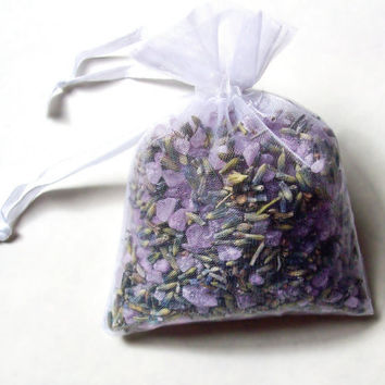 Bath Tea Bag - Epsom salt and Lavender - scented with Spearmint and Eucalyptus