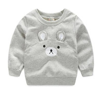 baby boy t shirt long sleeve cartoon animal boys t-shirts clothes  christmas cute bear toddler boy t shirts kids costume