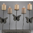 "16"" Butterfly Pillar Candle Holder Display"