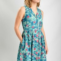 Lola Floral Print Tea Dress | by BIBICO