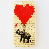 iPhone 6 Plus Case Cover Elephant iPhone 6 Plus Hard Case Baloons Uplifting Back Cover For iPhone 6 Inspirational Slim Design Case