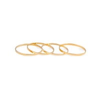 GOLD MIDI RINGS SET