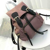 Burberry New fashion travel backpack bag Purple