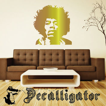 Wall Decal - Jimi Hendrix - Vinyl Mural-Like Art
