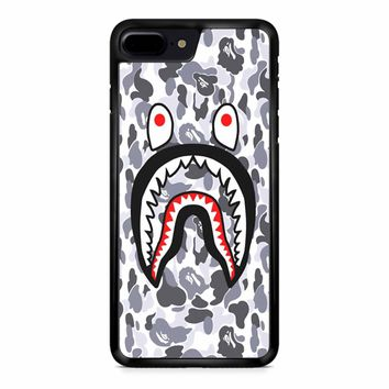 Bape Shark Face White Camo iPhone 8 Plus Case